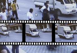 Esenyurtta kamyonetin çocuğa çarpması anbean kaydedildi