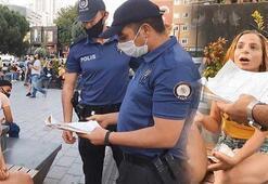 Esenyurtta maskesini takmayan kadına 900 TL ceza kesildi