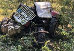 Samsunda traktör devrildi; ehliyetsiz sürücü öldü, 1 kişi yaralı