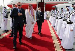 Son dakika Cumhurbaşkanı Erdoğan Katara geldi