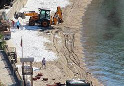 Çok konuşulmuştu Bodrumda plajlara serilen beyaz kumun ne olduğu ortaya çıktı