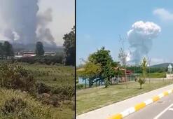 Son Dakika- Sakaryadaki havai fişek fabrikası patlamasından ilk görüntüler