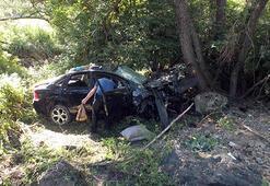 Yozgatta otomobil şarampole yuvarlandı: 5 yaralı