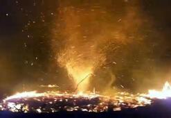 Ateş şeytanı kameraya böyle yansıdı