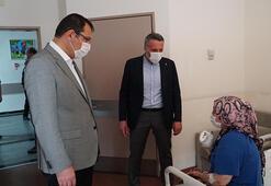 AK Partili Yavuz, havai fişek fabrikasındaki patlamada yaralananları ziyaret etti