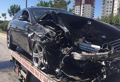 Ankara'da zincirleme kaza Lüks araçlar birbirine girdi
