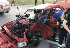 Sivastaki trafik kazası kameralara yansıdı