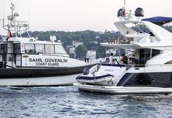 İstanbul Boğazında teknelerde corona virüs denetimi