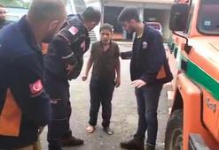 Rizede kaybolan 11 yaşındaki çocuk 12 kilometre uzaklıkta bulundu