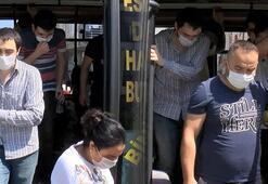 Esenyurtta şaşırtan manzara 14 kişilik minibüsten 30 yolcu çıktı