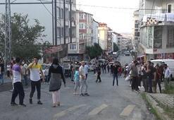 Arnavutköyde hareketli dakikalar Mahalleli sokağa döküldü