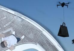 İstanbul Boğazında bir ilk Drone ile paket servis