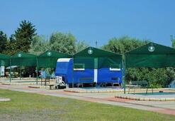 Samsun Karavan Parkı mavi ve yeşil için alternatif rota