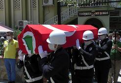 Görevi başında hayatını kaybeden polise son görev