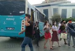 İstanbulda uygulamadan kaçan otobüsten 40 yolcu çıktı