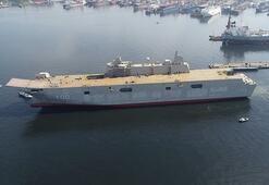 Türkiyenin amiral gemisinde son durum görüntülendi
