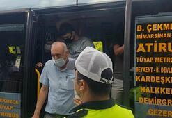 Esenyurtta minibüsten 35 yolcu çıktı