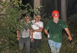Antalyada mağarada mahsur kalan 3 kişi kurtarıldı