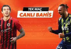 Gençlerbirliği - Fenerbahçe maçıheyecanı Tek Maç ve Canlı Bahis seçenekleriyle Misli.com'da