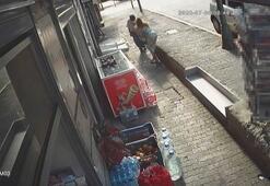 İstanbul'un göbeğinde kadına silahlı saldırı anı kameraya yansıdı