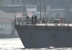 Son dakika: ABD savaş gemisi İstanbul Boğazı'nda Dikkat çeken mesaj
