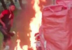 Sivas'ta kavga eden iki arkadaştan birisi diğer arkadaşının motorunu yaktı