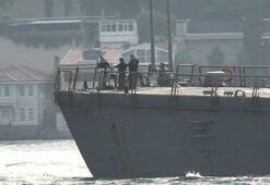 """ABD savaş gemisi """"USS Porter"""" İstanbul Boğazı'nda"""