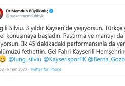 Kayseri Büyükşehir Belediye Başkanı Büyükkılıçtan kaleci Lunga fahri hemşehrilik teklifi