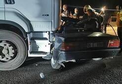Başkentte TIR, otomobile çarptı: 2 ölü, 1 ağır yaralı