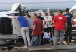 Samsunda feci kaza 5 kişi ağır yaralı