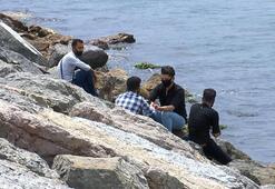 Üsküdar sahilinde çekirdek yiyene 61 lira ceza