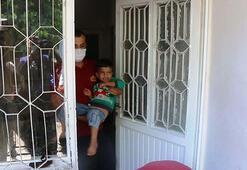 Evde mahsur kalan çocuğu, itfaiye kurtardı