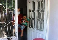 Küçük çocuk evde mahsur kaldı İtfaiye ekipleri kurtardı