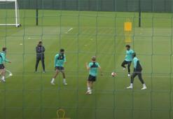 Alisson ve Mohamed Salahın antrenman görüntüleri...