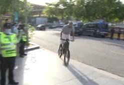Görenler inanamadı Camp Nouya bisikletle geldi...