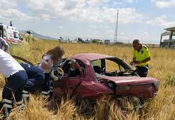 Kayseride otomobil şarampole devrildi: 5 yaralı
