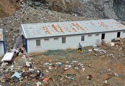 Trabzondaşantiye işçilerinin dikkati hayatlarını kurtardı