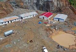 Trabzondaki şantiye işçilerinin dikkati hayatlarını kurtardı