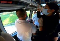 Dip dibe yolculuk yapılan minibüsten görüntüler