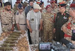 Libyada paralı askerlerin döşediği mayınlar sergilendi