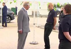 Prens Charlesın ziyaretinde korkutan anlar... Yere yığıldı