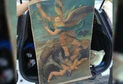 İstanbulda Şeytanla Savaşan Mikail tablosu ele geçirildi