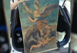Şeytanla Savaşan Mikail tablosu ele geçirildi