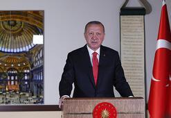 Son dakika... Cumhurbaşkanı Erdoğan dünyaya ilan etti  Ayasofyada ilk namazın tarihi belli oldu