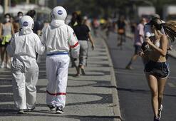 Şaşkın bakışlara aldırmadılar Burası corona virüsün en çok vurduğu ülkelerden biri...