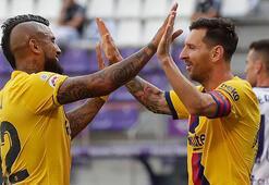Barcelona Valladolidi yendi Messi tarihe geçti...