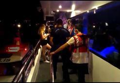 Sarıyerde teknedeki partiye corona virüs baskını