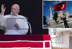 Son dakika Papa canlı yayında açıkladı Ayasofya kararına ilk tepki