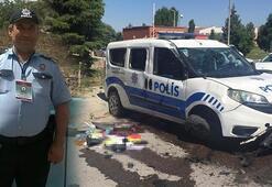 Görevden dönen polis memurları kaza yaptı 1'i ağır 2 yaralı