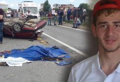 Trabzon'da aracıyla takla atan genç sürücü hayatını kaybetti